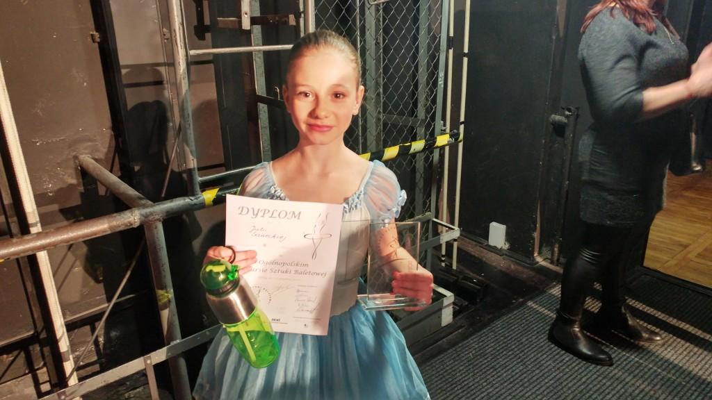 """""""Wariacja Swanildy""""- trzecie miejsce w kategorii taniec klasyczny solo 10-11 lat"""